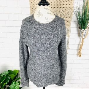 Exofficio Grey Cable Knit Sweater size Small